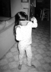 Toddler luchadora