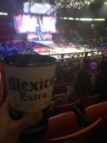 No trip to Arena Mexico is complete without a huge cup of foamy beer.